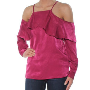 Bar III Cold Shoulder Blouse Size Small NWT